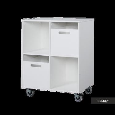 Mini Nursery Bookcase on Wheels