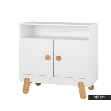 Iga White Nursery 2 Door Dresser