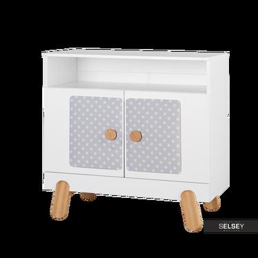 Iga Nursery 2 Door Dresser White with Dots