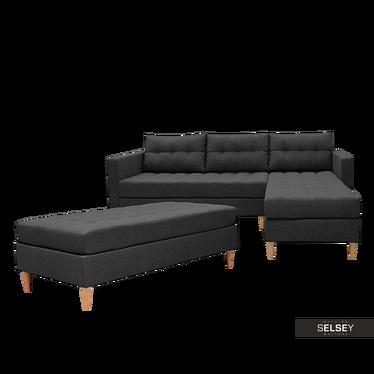 Copenhagen Reversible Corner Sofa with Pouf