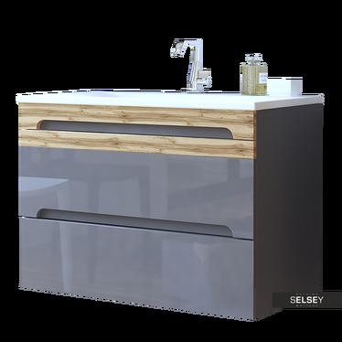 Warner Grey Floating Vanity Unit 80 cm