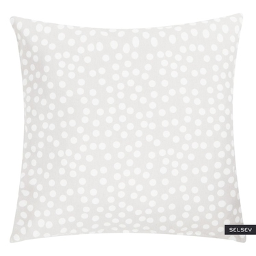 Allover Dots Grey Scatter Cushion 45x45 cm