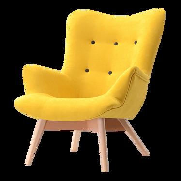 Flori Yellow Armchair