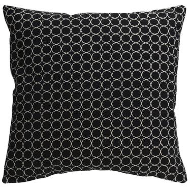 Mone Black Throw Pillow 60x60 cm