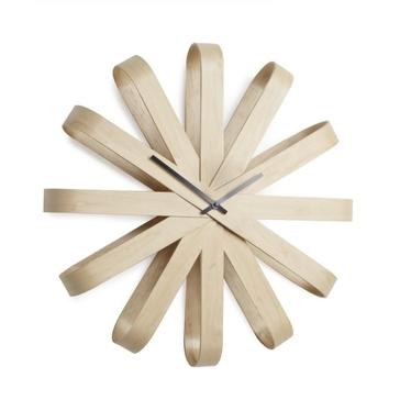 Ribbon Decorative Wooden Wall Clock