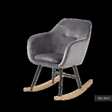 Emilia Velvet Graphite Rocking Armchair