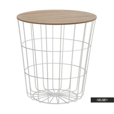 Sanu White Basket Coffee Table