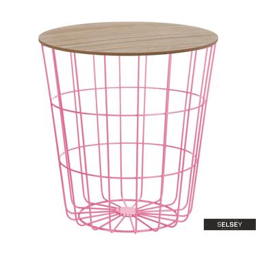 Sanu Pink Basket Coffee Table