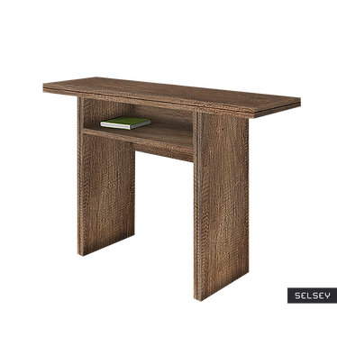Italia Walnut Console Table