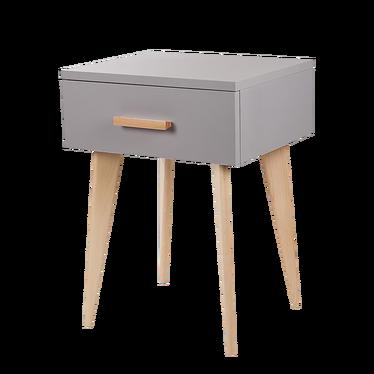 Sicilia Grey Scandinavian Bedside Table