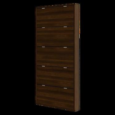 Slim 5 Shelf Shoe Cabinet Wide