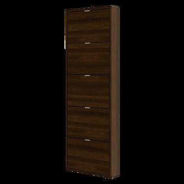 Slim 5 Shelf Shoe Cabinet Tall