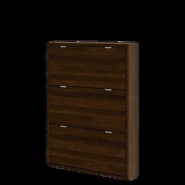 Slim 3 Shelf Shoe Cabinet Wide