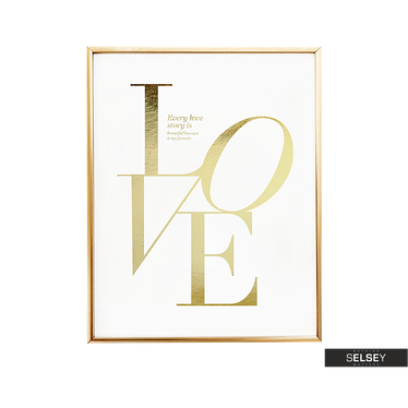 Love Story Golden Wall Poster