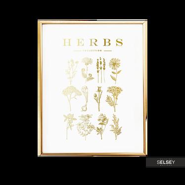 Herbs Golden Wall Poster