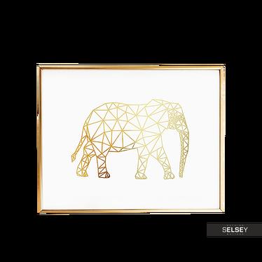 Elephant Golden Wall Print