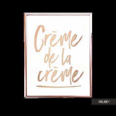 Crème De La Crème Golden Wall Print