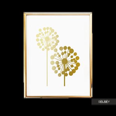 Dandelions Golden Wall Print