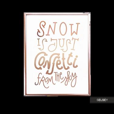 Snowflake Confetti Wall Poster