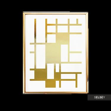 Tiles Golden Wall Art Print