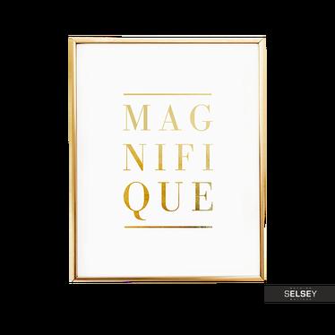 Magnifique Golden Wall Print