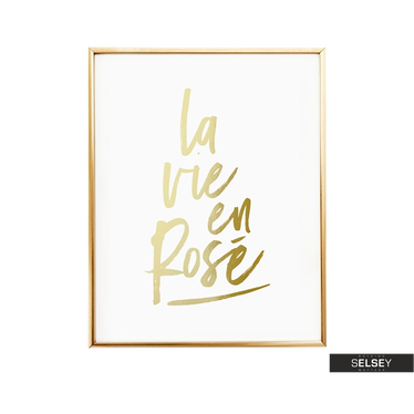 Piaf Golden Wall Art Print