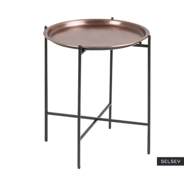Millie Industrial Copper Bedside Table