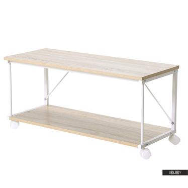Malek Oak Bench 100x40 cm