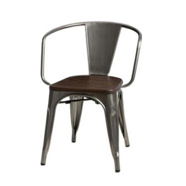 Paris Metallic Chair with Pine Seat