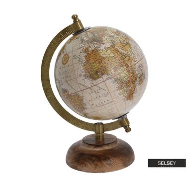 Orb Vintage Pink World Globe on Wooden Stand 13 cm