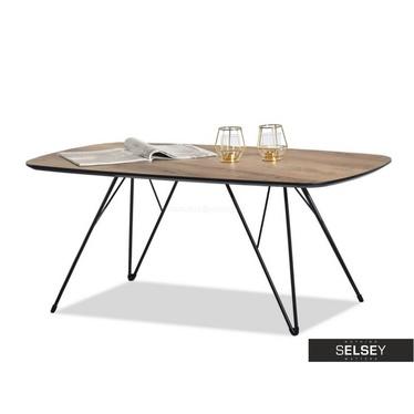Rubin Retro Walnut Bench Coffee Table