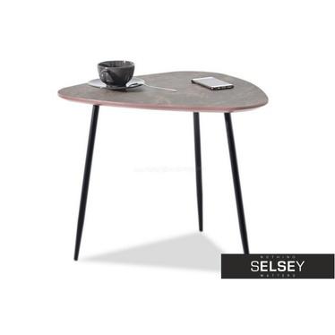 Rosin Modern Brown Marble Coffee Table 59x65 cm