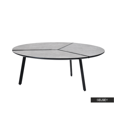 Fjord Grey Marble Round Coffee Table