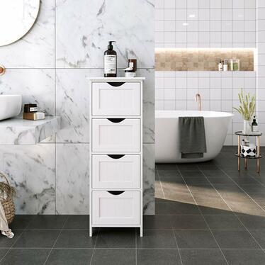 Wlens 4 Drawer Bathroom Storage Unit