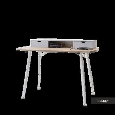 Malmo White Desk with Storage