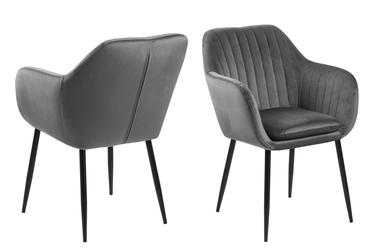 Elidi Grey Upholstered Chair on Metal Legs