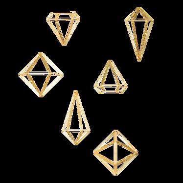 Diamond Prism Golden Wall Decor