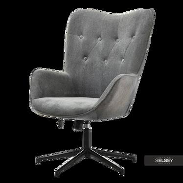 Triny Grey Swivel Armchair