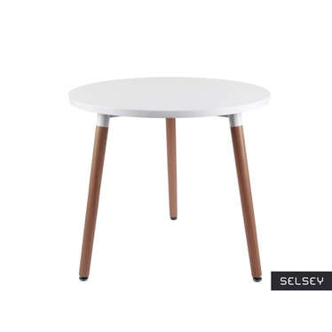 Modus White Scandinavian Round Table 80 cm