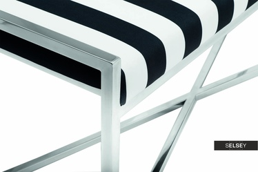 Futura Stripes Bench with Steel Base