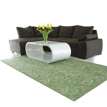 Stamp Circle Olive Carpet
