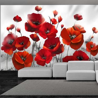 Red Poppy Mural Wallpaper