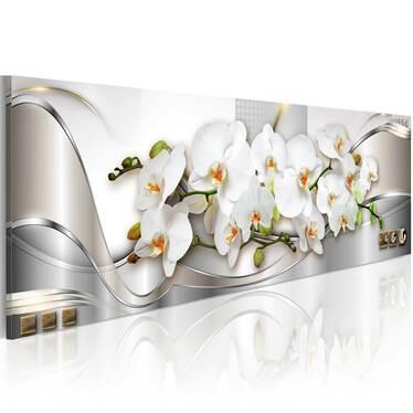 Orchids Canvas Print 120x40 cm