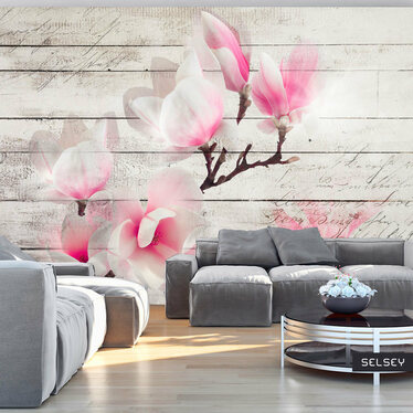 Delicate Magnolia Mural Wallpaper