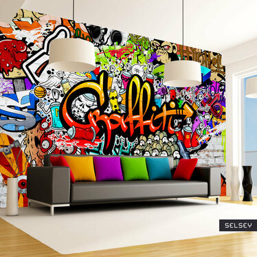 Colours Of Graffiti Mural Wallpaper