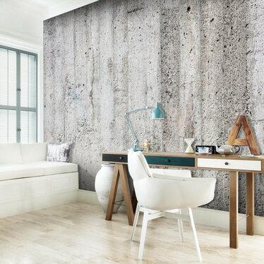 Concrete Grey Mural Wallpaper