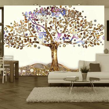 Golden Tree Mural Wallpaper