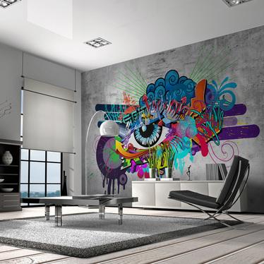 Graffiti Eye Mural Wallpaper