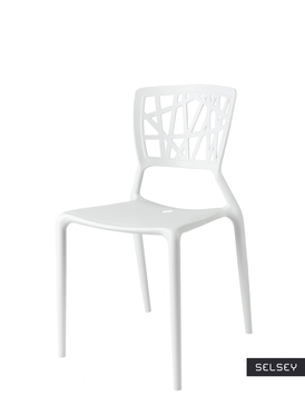 Bush White Plastic Chair