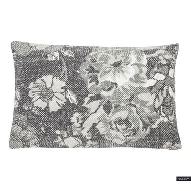 Vintage Flower Grey Cushion 35x50 cm